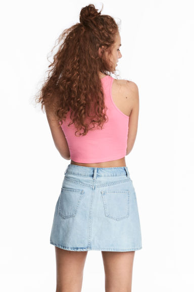 Short vest top - Pink - Ladies | H&M CN