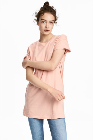 Long T-shirt - Powder - Ladies | H&M