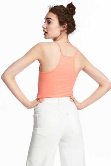 Short strappy top - Orange -  | H&M CN