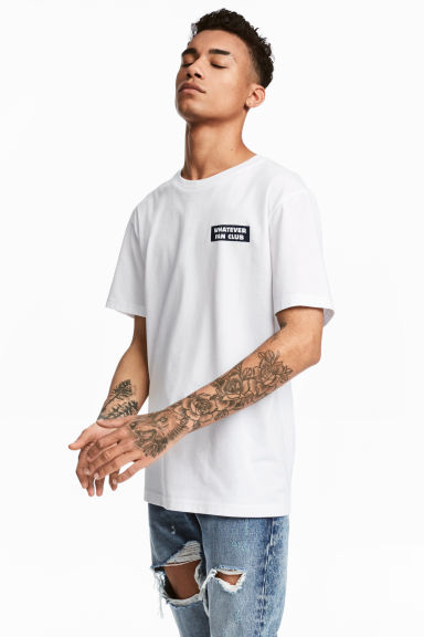 Printed T-shirt - White - Men | H&M