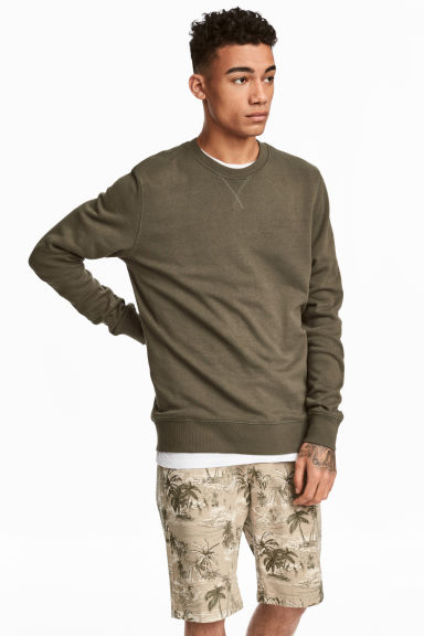 Sweatshirt - Khaki green -  | H&M
