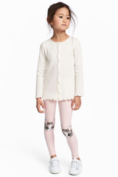 Jersey leggings - Light pink/Cat -  | H&M