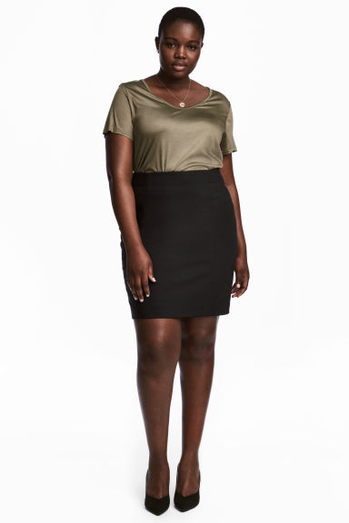 H&M+ Short skirt - Black -  | H&M