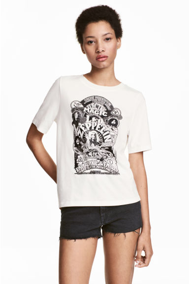 Top met print - Wit/Led Zeppelin -  | H&M NL