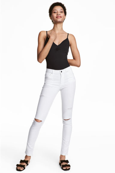 Skinny Regular Jeans - White denim -  | H&M