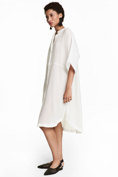 Kaftan dress - White -  | H&M CN