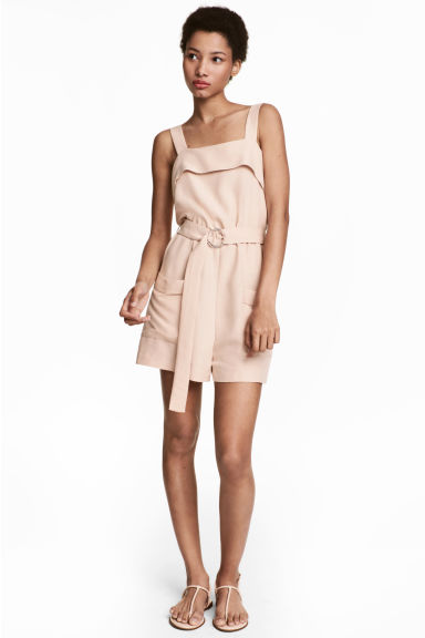 Playsuit - Light beige - Ladies | H&M