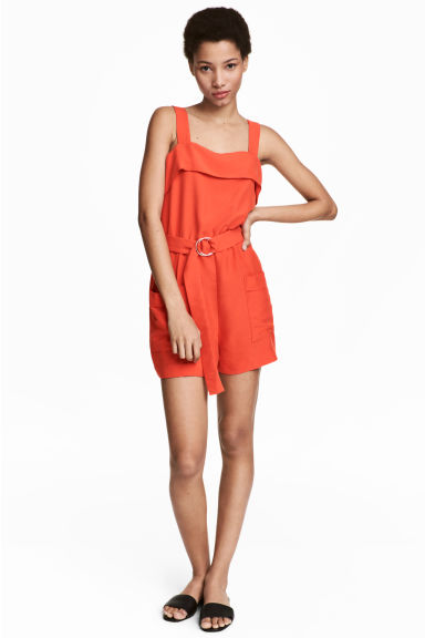 Playsuit - Orange - Ladies | H&M