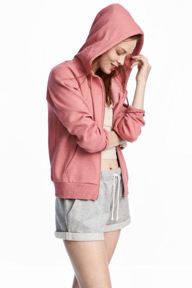 Hooded jacket - Coral pink - Ladies | H&M