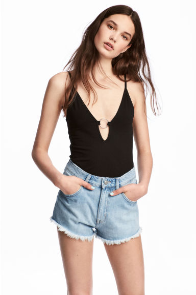 V-neck body - Black - Ladies | H&M CN