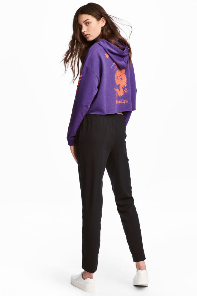 e24f6f85 Pull-on trousers - Black - | H&M ...