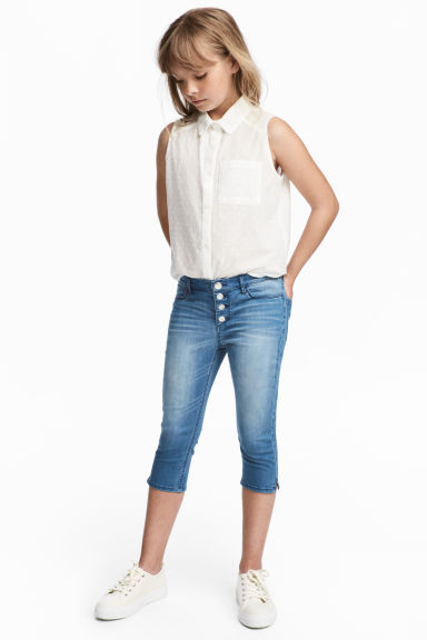 Pantalon capri en denim - Bleu denim - ENFANT | H&M BE