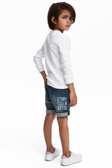 Short en jean avec impression - Bleu denim - ENFANT | H&M BE
