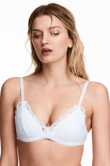 Non-wired push-up bra - White -  | H&M CN