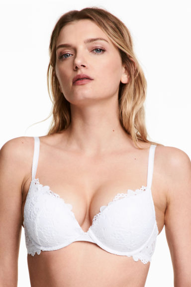 Kanten superpush-up beha - Wit - DAMES | H&M BE