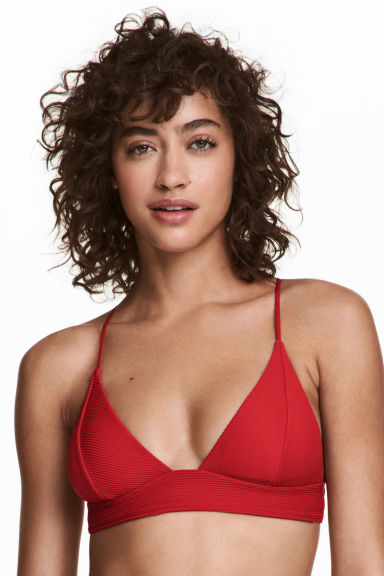 Triangle bikini top - Red - Ladies | H&M CN