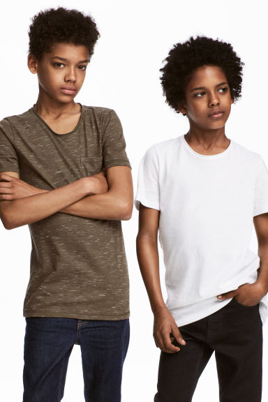 2-pack T-shirts - Khaki green marl -  | H&M