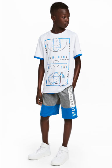 Sports shorts - Dark grey/Blue - Kids | H&M CN