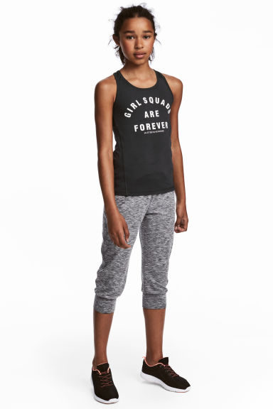 3/4-length sports trousers - Grey marl - Kids | H&M CN