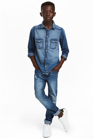 Superstretch Skinny fit Jeans - Bleu denim - ENFANT | H&M BE
