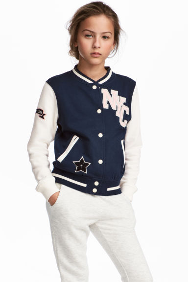Baseball jacket - Dark Blue/New York - Kids | H&M CN