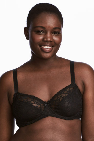 2-pack underwired bras E/F cup - Black -  | H&M