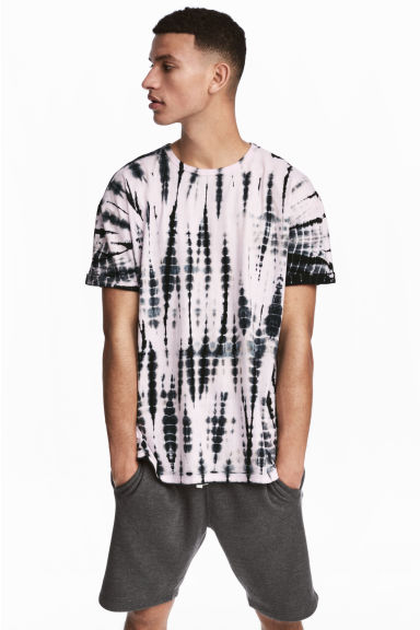 Batik-patterned T-shirt - Light pink/Black -  | H&M IE