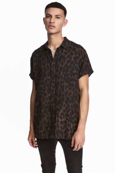 Patterned shirt - Brown/Leopard print -  | H&M
