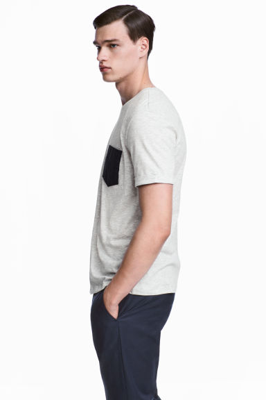 T-shirt - Light grey marl - Men | H&M GB
