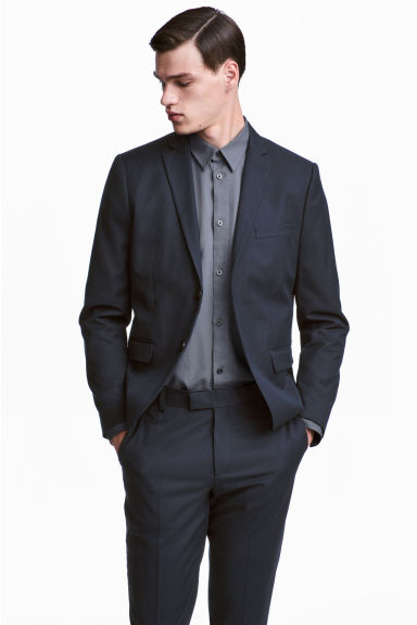 Slim Fit Blazer - Dark blue - Men | H&M CA