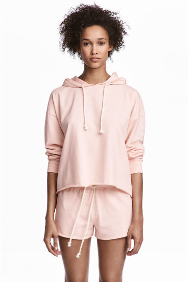 Pyjamas with a top and shorts - Light pink - Ladies | H&M