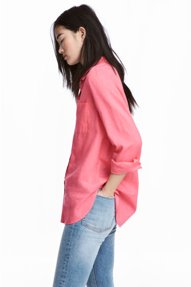 Cotton shirt - Pink - Ladies | H&M GB