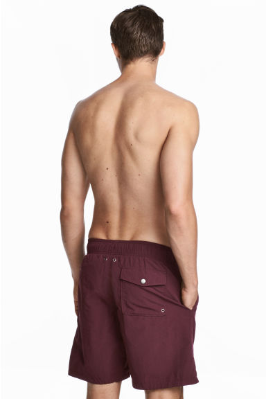 Knee-length swim shorts - Burgundy - Men | H&M IE