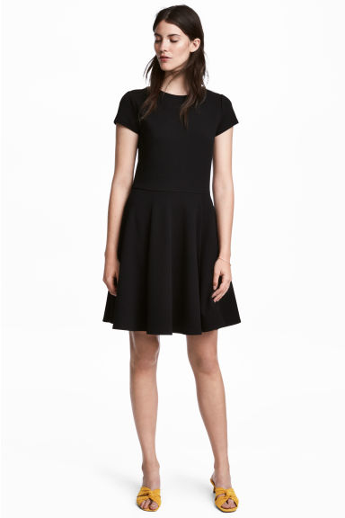Jersey dress - Black - Ladies | H&M CN