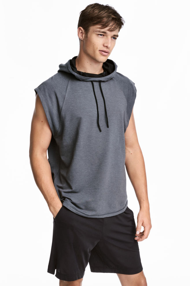 Hihaton huppari - Tumma harmaameleerattu - MIEHET  50dd395dce