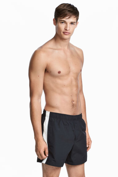 Short swim shorts - Dark blue/White -  | H&M GB