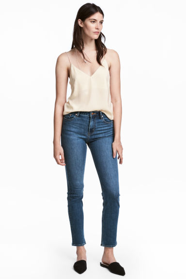 Pantalon stretch - Bleu denim -  | H&M CH