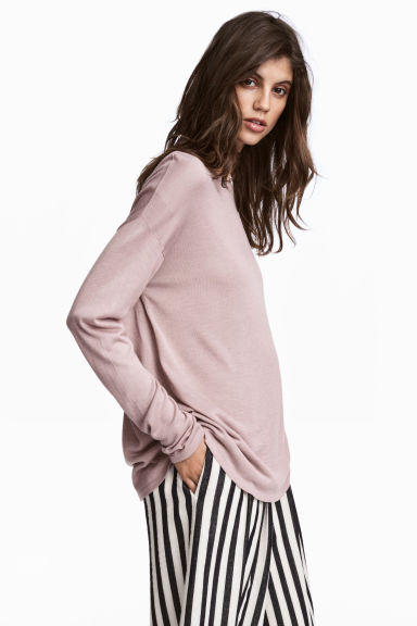 Fine-knit jumper - Dusky pink - Ladies | H&M GB