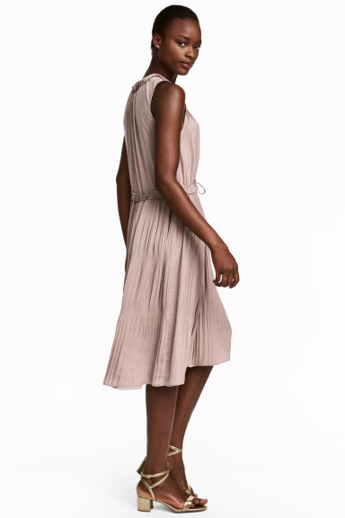Pleated dress - Light mole -  | H&M