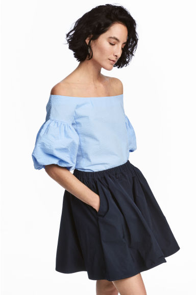 Off-the-shoulderbloes - Lichtblauw -  | H&M BE