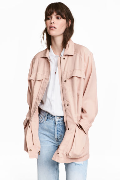 Giacca casual in lyocell - Rosa cipria -  | H&M IT