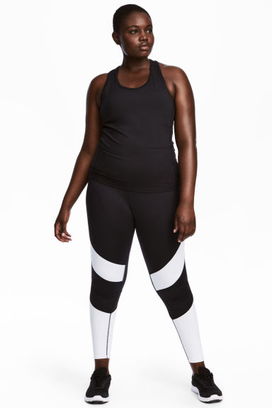 H&M+ Collant training - Noir/blanc -  | H&M BE