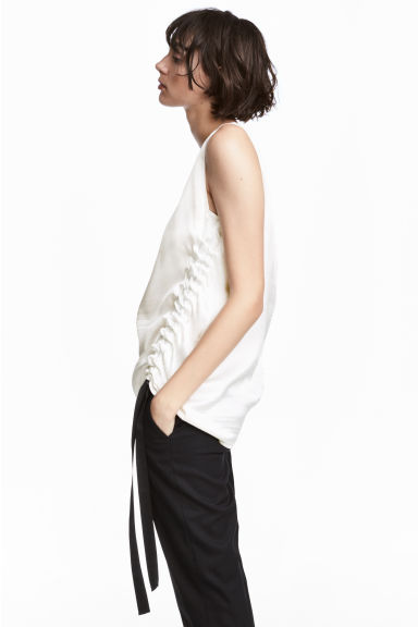 Drawstring top - White - Ladies | H&M