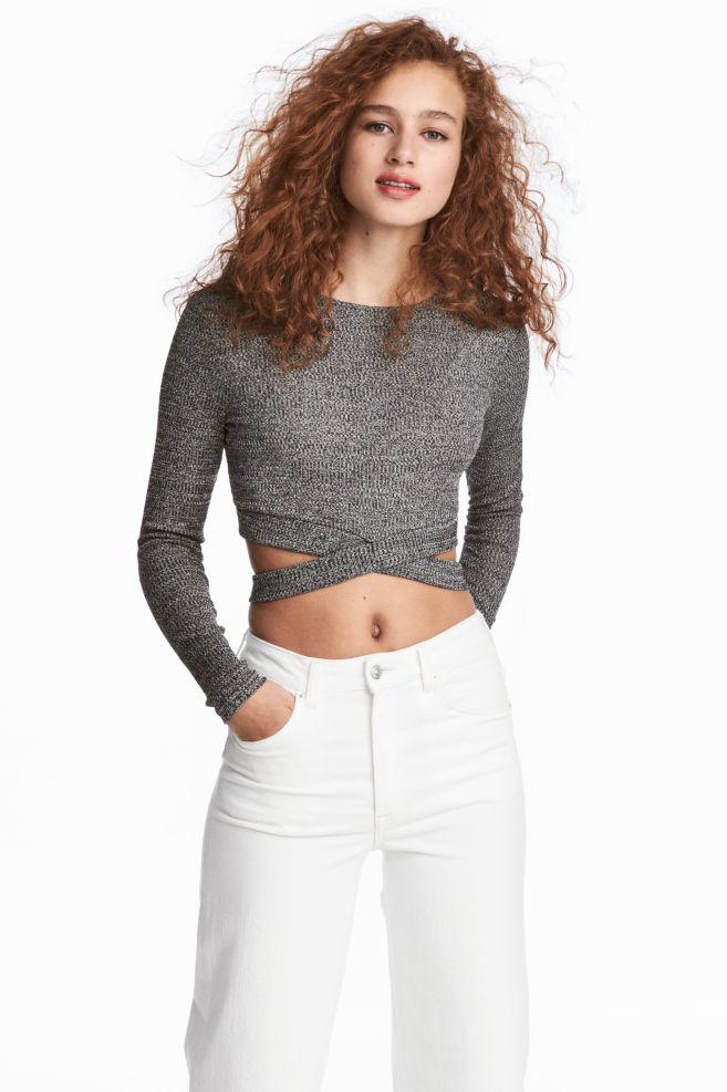 c1f9070ff61 Cropped jumper - Dark grey/Marled - | H&M .