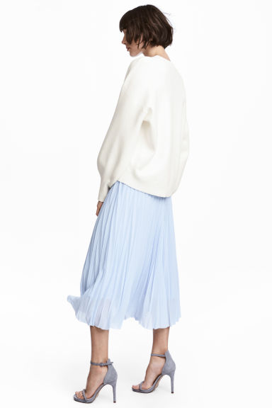 百褶裙 - Light blue -  | H&M