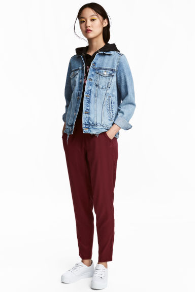 Pull-on trousers - Burgundy - Ladies | H&M CN
