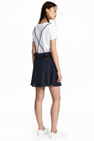 Spotted dress - Dark blue/Spotted - Ladies | H&M