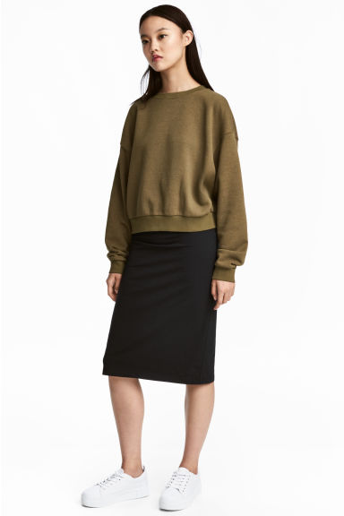 Knee-length pencil skirt - Black - Ladies | H&M GB