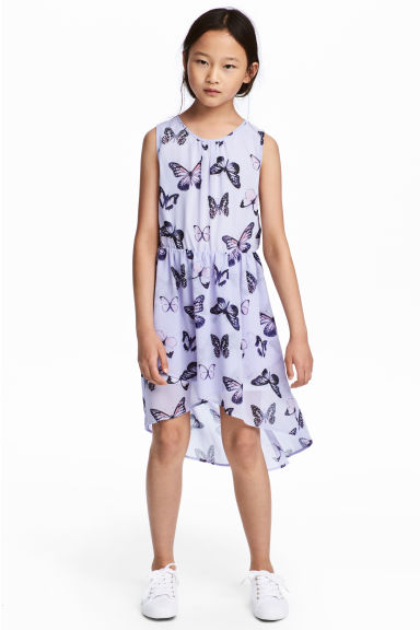 Asymmetric dress - Purple/Butterflies -  | H&M