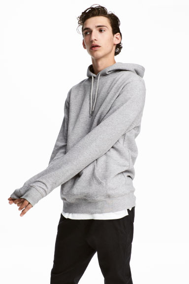 Hooded top - Grey marl - Men | H&M